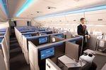 Business-Abteil mit Schiebetür in der A350