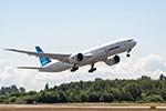 Hier fliegt eine künftige Boeing 777-9 der Lufthansa