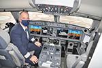 Airline-Chef auf dem linken Sitz