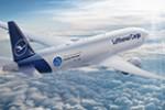 Eine Boeing 777F, schnittig wie ein Haifisch