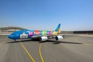 Im kunterbunten A380 zur Weltausstellung