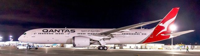 Qantas überfliegt mit der 787-9 die Drehkreuze