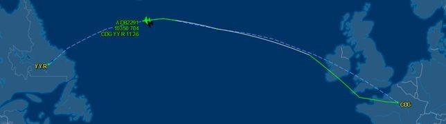 An-124 liefert A380-Triebwerk nach Goose Bay
