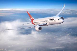 Boeing 787 mit Qantas-Livery