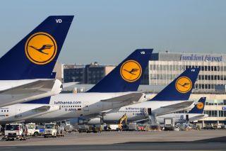 Lufthansa am Flughafen Frankfurt