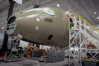 Bombardier CSeries FTV1 in der Endmontage