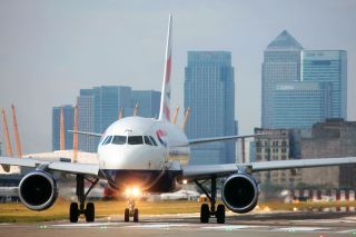British Airways A318 in LCY