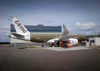 Die erste CSeries vor dem Beginn der Flugerprobung
