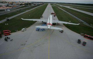 Gebrochener Bogie Beam an Emirates A330