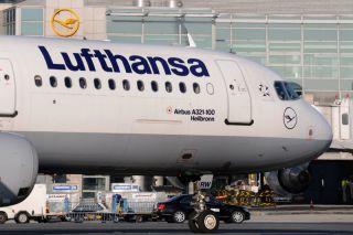 Lufthansa Airbus A321 in Frankfurt