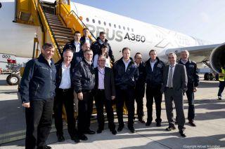Airbus A350 MSN2 in Hamburg