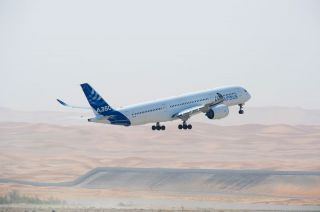 Airbus A350 MSN3 bei Hot Weather Testing in Al Ain