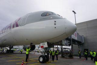 Qatar Airways Airbus A350 in Frankfurt