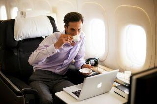 In der First Class bei Lufthansa