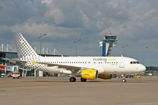 Vueling Airbus A319 in Nürnberg