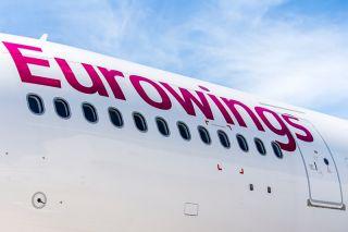 Eurowings-Schriftzug am Airbus A330-200