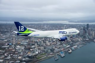 Boeing 747-8 in Seahawks Livery