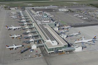Terminal-Satellit am Flughafen München