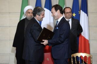 Iran-Air-CEO Farhad Parvaresh und Airbus-Chef Fabrice Brégier