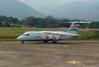 Avro RJ85 der LaMia Airlines