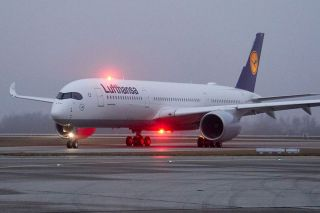 Erste Lufthansa A350 in München