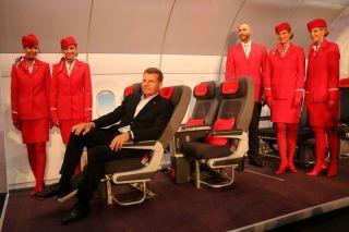 Austrian CCO Andreas Otto im neuen Premium Economy Sitz