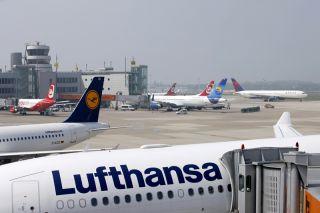 Vorfeld Flughafen Düsseldorf