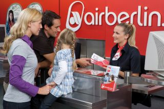 Check-In bei Air Berlin