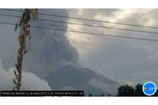 Der indonesische Vulkan Mount Agung