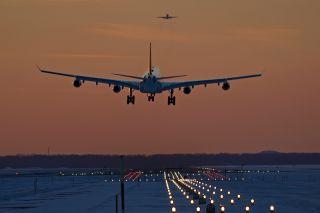 Landeanflug Flughafen München