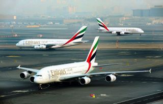 Emirates A380 in Dubai
