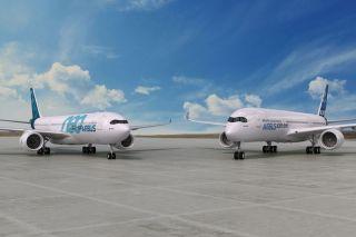 Familienbande: A330neo neben A350