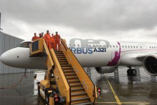 Airbus A321LR Erstflug
