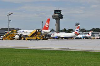 Vorfeld Flughafen Salzburg