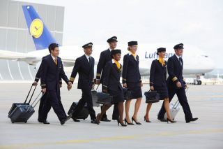 Lufthansa Flugbesatzung