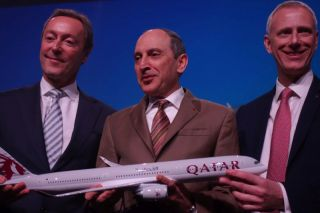 A350-1000 Delivery to Qatar Airways (Fabrie Brégier, Akbar Al-Baker, Chris Cholerton)