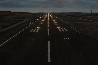Befeuerungstest am neuen Istanbul Airport