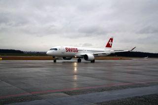Swiss Bombardier CSeries in Genf