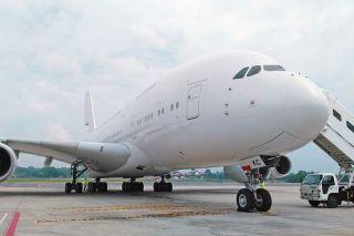 Hi Fly Airbus A380, frühere 9V-SKC