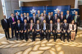 Die IATA-Führungsriege im Juni 2018