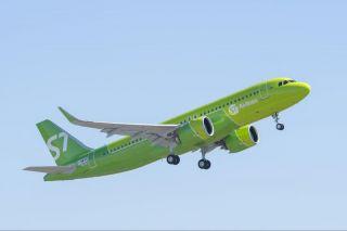 S7 Airlines Airbus A320neo fliegt mit Pratt & Whitney PW1100G Triebwerken