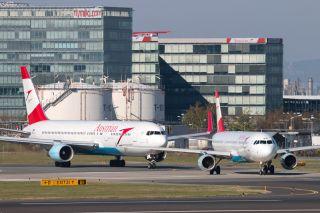 Austrian Airlines am Flughafen Wien