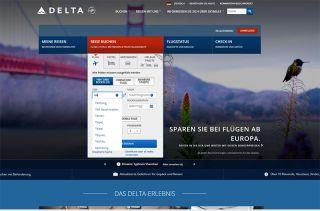 Delta Air Lines lässt hinter taiwanesischen Zielen jede Länderbezeichnung weg (Screenshot vom 06.08.2018)