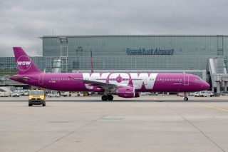WOW Air Airbus A321 in Frankfurt