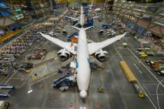 787 Fertigung in Everett, Washington