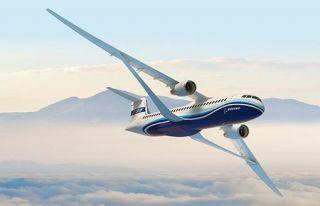 Boeings abgestrebter Schulterdecker Truss-Braced Wing Concept ist auf besonders hohe aerodynamische Effizienz getrimmt.