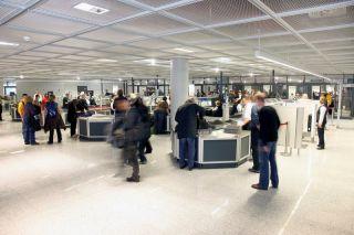 Passagierkontrolle in Frankfurt