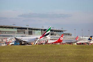 Vorfeld am Flughafen Hamburg