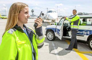 Sicherheitspersonal am Flughafen München