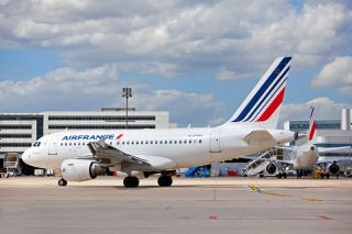 Air France Airbus A318 in Paris CDG
